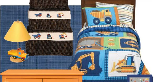 Construction bedroom theme idea i came up with click for Construction themed bedroom ideas