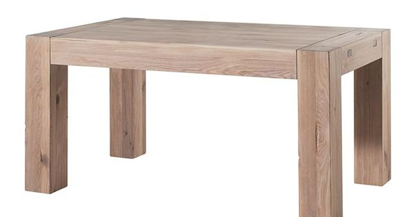 Table ch ne massif blanchi collection bjorn salon salle for Bagno 1 5 x 2