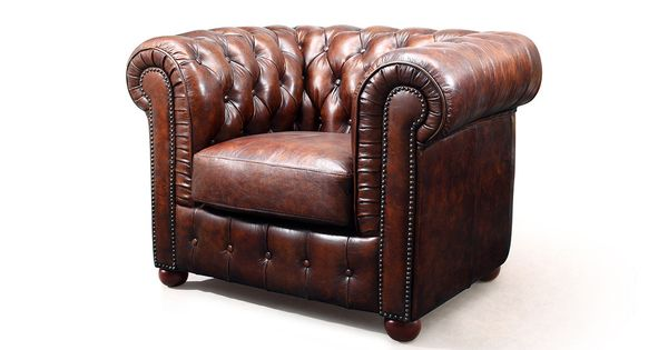 fauteuil chesterfield en cuir marron vintage rose moore de profil wbp 1051 chaises. Black Bedroom Furniture Sets. Home Design Ideas