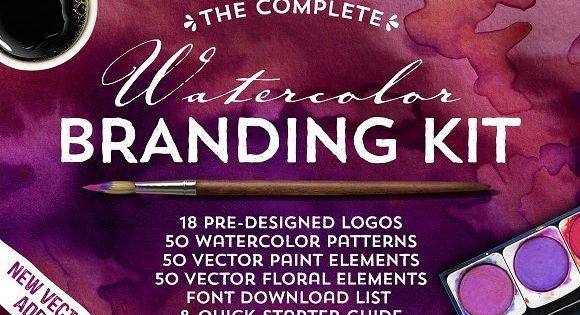 The Watercolor Branding Kit – perfect for logo creation