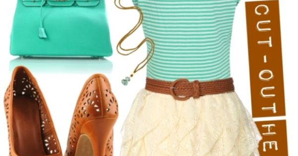 t shirt and frilly skirt with cut out shoes