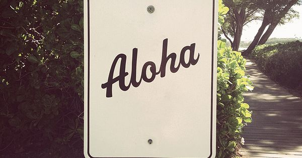 Aloha, summer vacation destination.