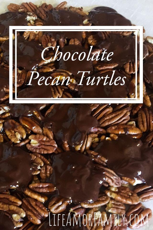 dark chocolate pecan turtles