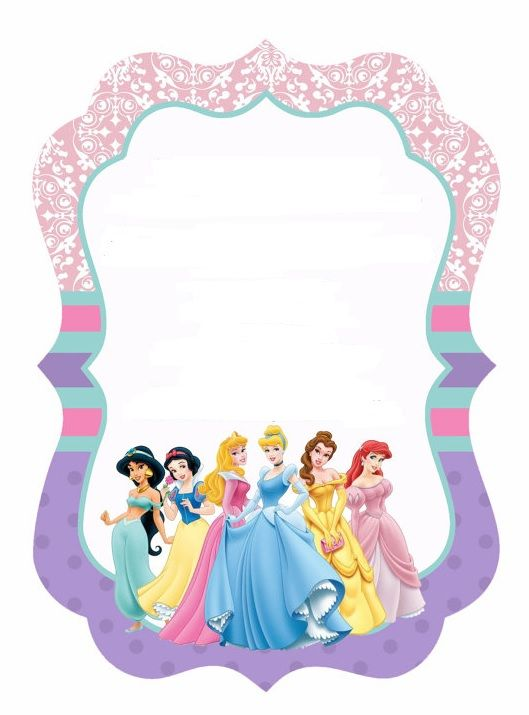 Disney Princess Birthday Invitations Printable Free Borders and - best of invitation template princess