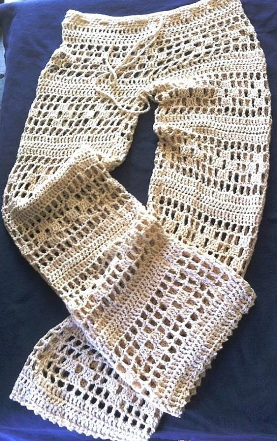 how to make crochet pants