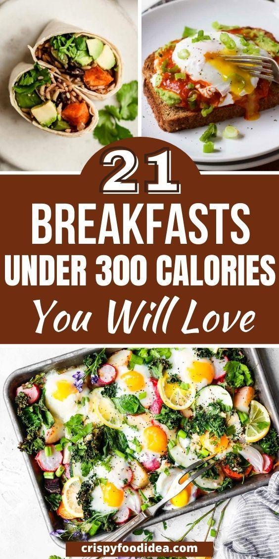 breakfasts under 300 calories
