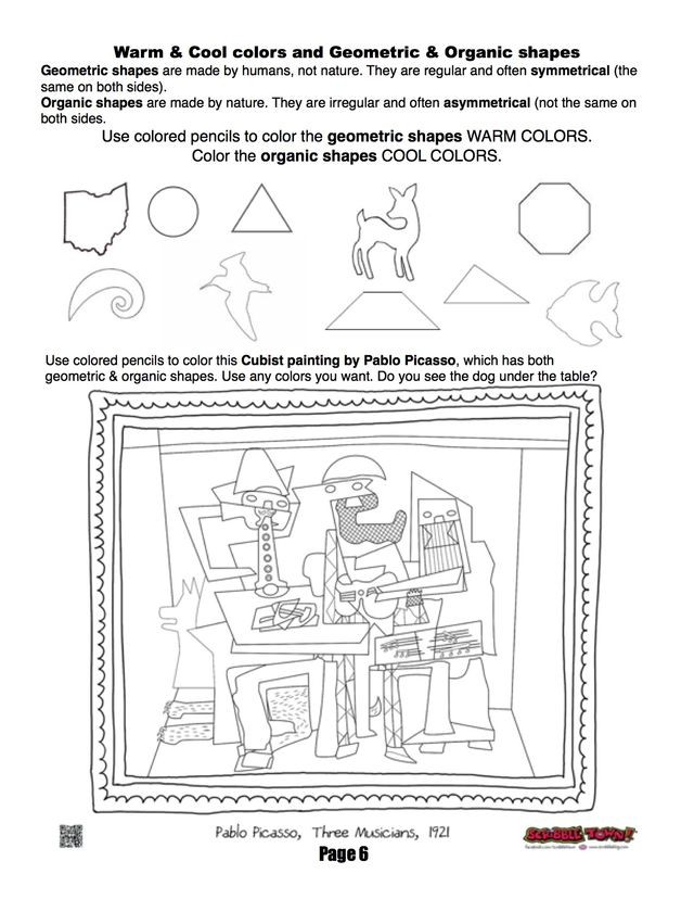 art printables handouts on pinterest elements of art worksheets and coloring pages. Black Bedroom Furniture Sets. Home Design Ideas