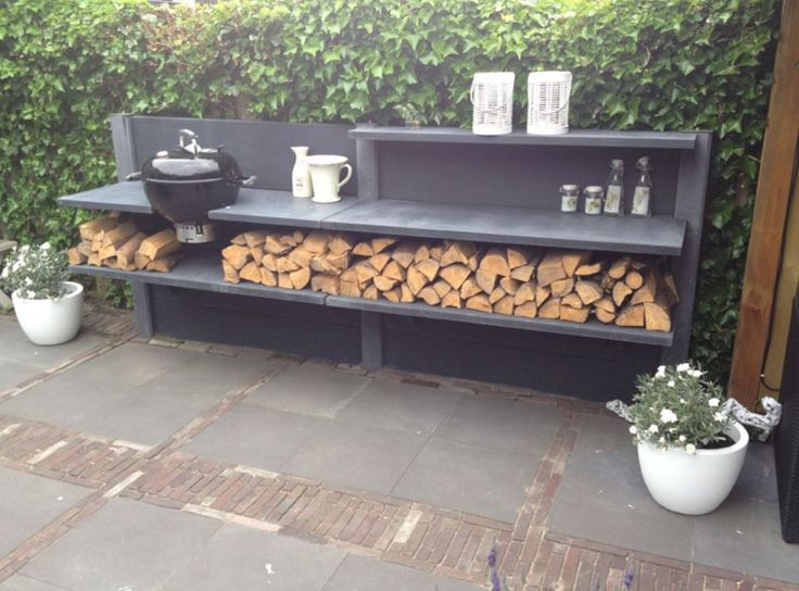 simple outdoor kitchen design