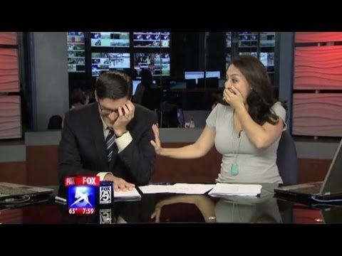KTVU news anchor gets pranked by NTSB on Flight 214 pilot names. - YouTube