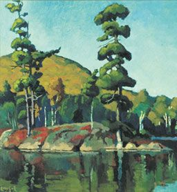 Blackberry Island, Lac Tremblant (about 1934), by Edwin Holgate