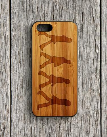 The Beatles Black Silhouette Wood Design iPhone 5 | 5S Case
