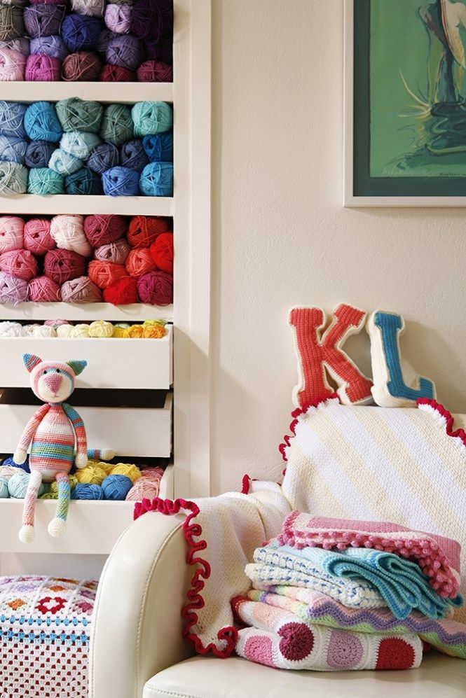 Yarn storage and crochet loveliness | Cherry Frog 🐸