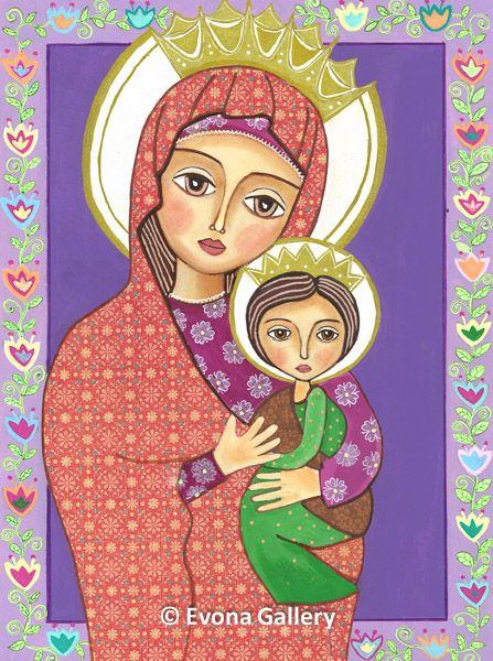 Madonna and Child, Baby Jesus, Catholic art Jesus child painting mother and…
