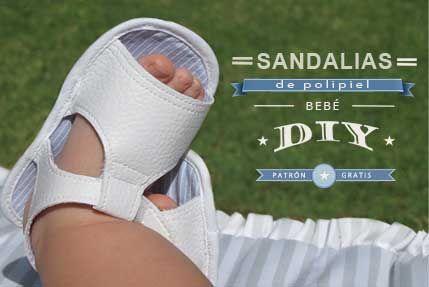 sandalias bebe DIY