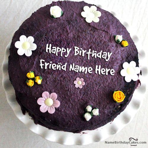 Write Name On Most Lovely Birthday Cake Hbd Cake Pinterest