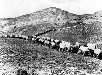 wagon trains...When I was younger I thought this would have been an awesome adventure. As I aged - not so much!