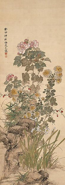 Yamamoto Baiitsu (Japanese, 1783–1856). Autumn Flowers. The Metropolitan Museum of Art, New York. Mary Griggs Burke Collection, Gift of the Mary and Jackson Burke Foundation, 2015 (2015.300.188)