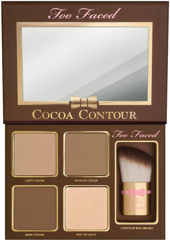 beautiful Too Faced Cocoa Contour love the smell and texture!! makes you smell just like chocolate and who doesnt love chocolate?!