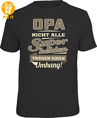 Original RAHMENLOS® T-Shirt für den aktiven Großvater: Opa, manche Superhelden brauchen keinen Umhang! Größe XL, Nr.6150 - T-Shirts mit Spruch | Lustige und coole T-Shirts | Funny T-Shirts (*Partner-Link)