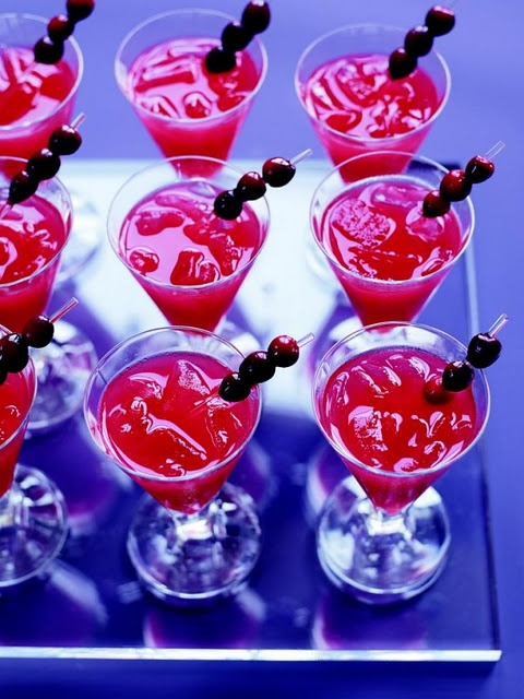 Christmas dinner party recipes starting with cranberry martinis!