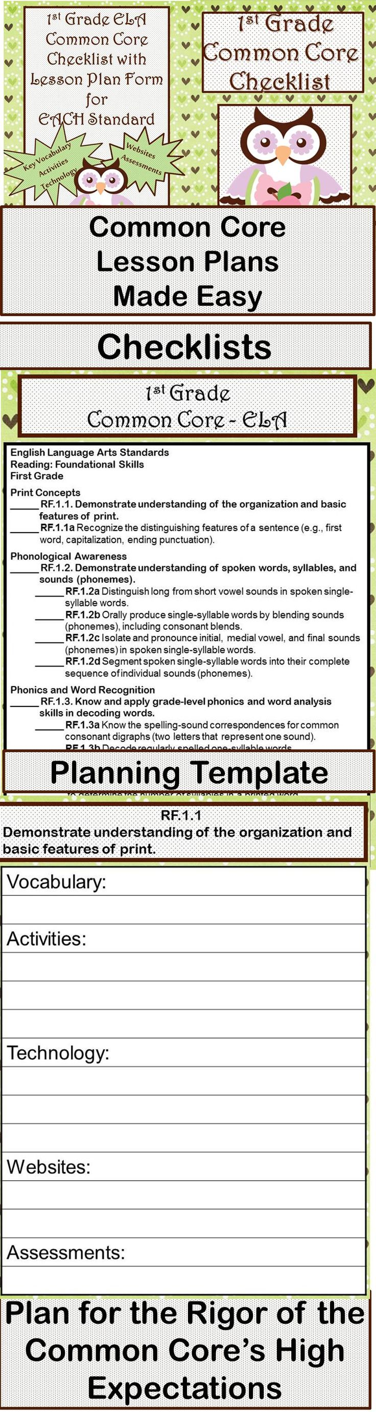 lesson plan template using common core standards - 11 best images about k 2 math resources on pinterest