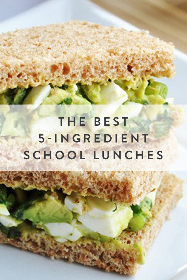 The Best 5-Ingredient School Lunches. Perfect for kids and adults alike.