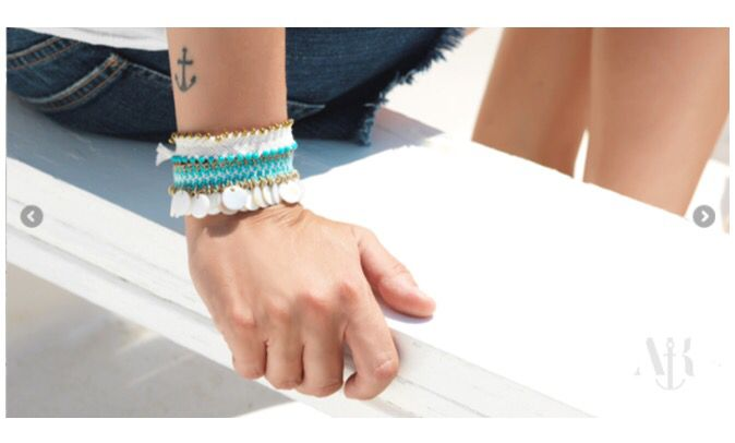 braided bracelets cotton cord and semiprecious stones #antoniakarra