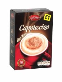 Cafe Classic Cappuccino 10 Cups Classic cappuccino. 10 cup pack.