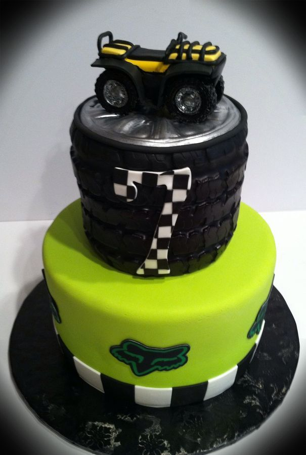racing cake with gumpaste 4 wheeler