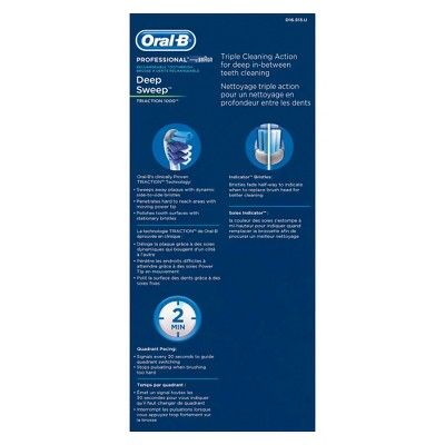 Oral-B Professional Deep Sweep Triaction 1000 Rechargeable Electric Toothbrush - D16.513.U