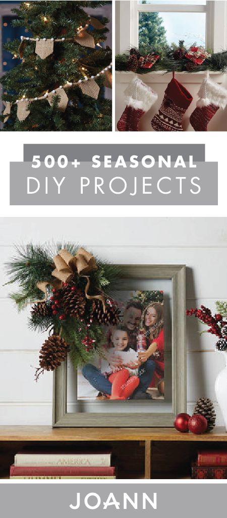 Check Out This Collection Of 500+ Seasonal DIY Projects From JOANN If  Youu0027re · Burlap DecorationsProject ProjectsHoliday CraftsChristmas ...