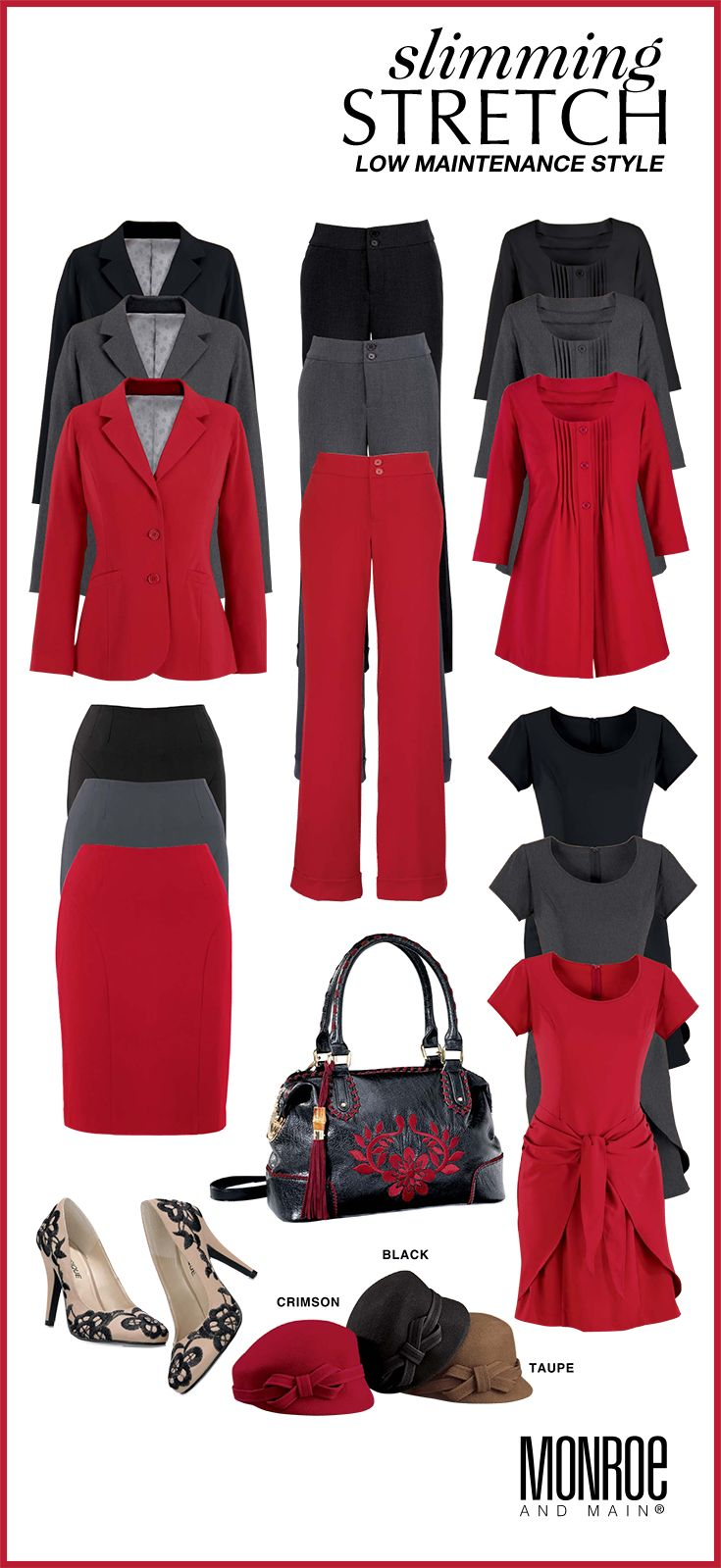 Fashion Fit for You in Misses & Plus Sizes.  www.monroeandmain.com Seems good for career wear...