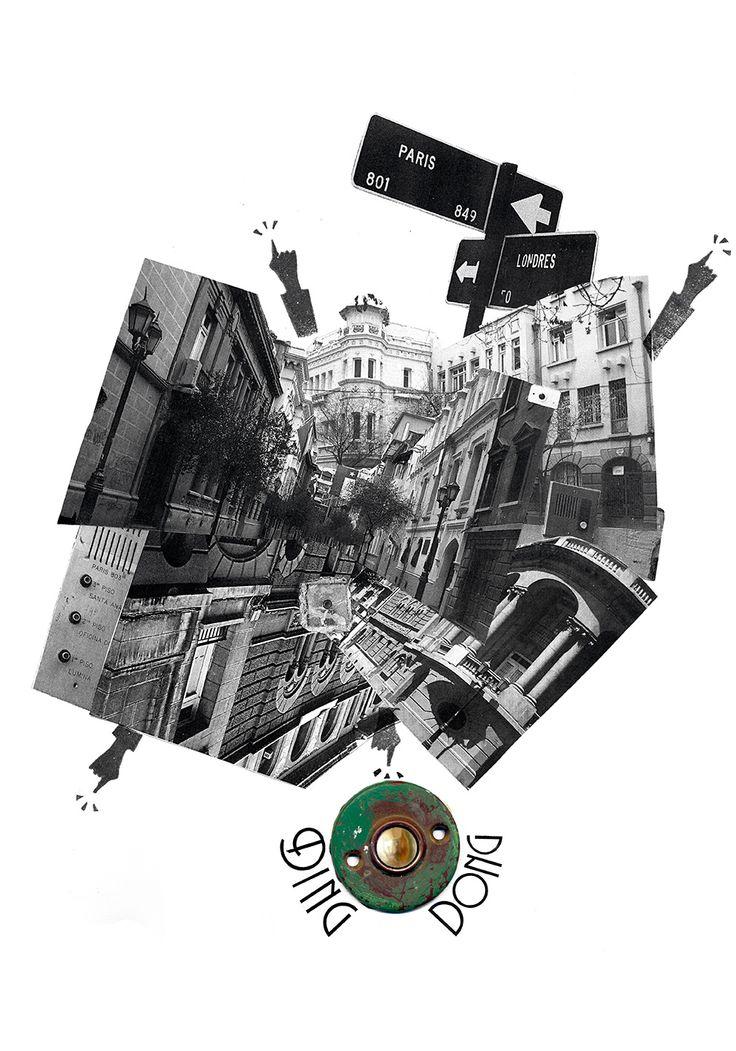 """Collage """"Barrio París y Londres"""". Williams Osorio."""