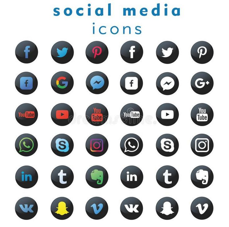 A new 2018 collection of 36 black&white and colorful popular social media icons - Eduard I.P. - Google+