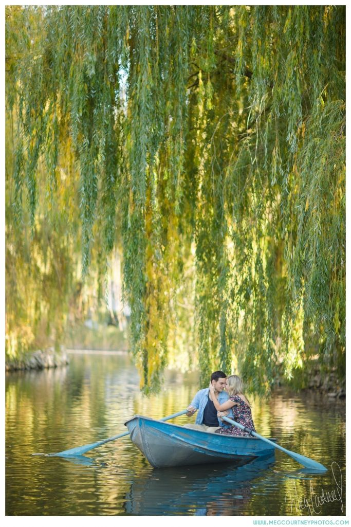 magical engagement session with a rowboat on a lagoon.... like it was straight out of a disney movie <3  meg courtney, photographer.