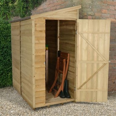 6x3 overlap pent pressure treated shed