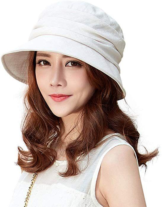 859f867ab23535 Siggi Ladies Summer Bucket Boonie Packable Short Brim Sun Hat Fishing UV Cap  for Women Beige