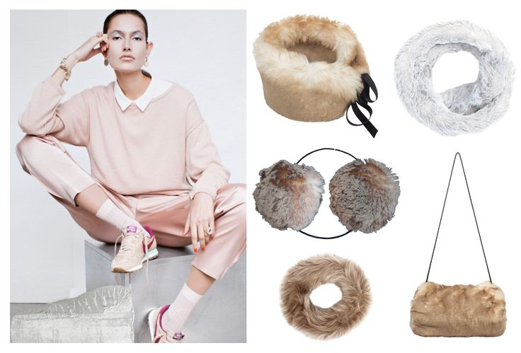 Pretty in pastels and faux fur this winter.