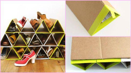 Elabora un organizador con material reciclado manualidades pinterest materiales reciclados - Como hacer un organizador de zapatos casero ...