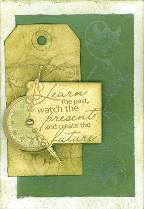 Stamp-it Australia: 4303E Watch & Learn, 4300E Station Clock, 4208D Leaf Swirl - Card by Scheryl