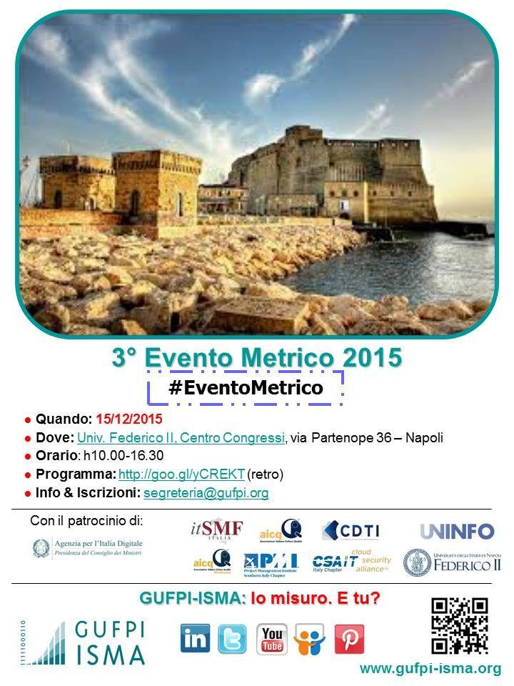 3° #EventoMetrico 2015 GUFPI-ISMA
