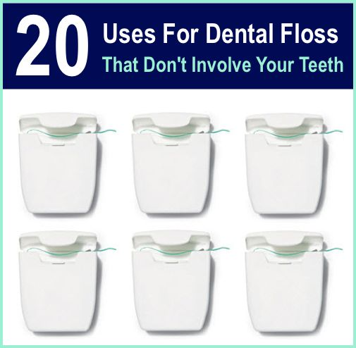 20 Uses For Dental Floss That Don't Involve Your Teeth...http://homestead-and-survival.com/20-uses-for-dental-floss-that-dont-involve-your-teeth/
