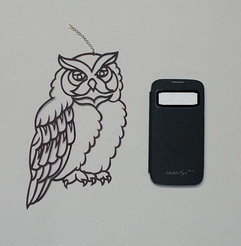 Owl Paper Cut Template Digital download jpg DIY by koreanpaperart7