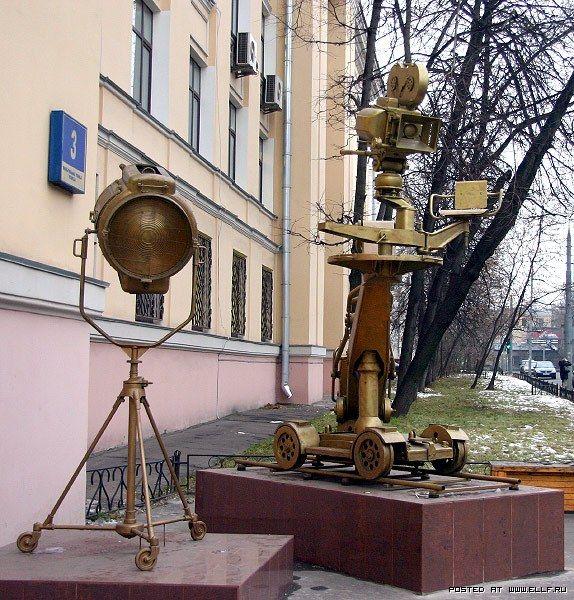 Памятник кинокамере. Москва. Россия.