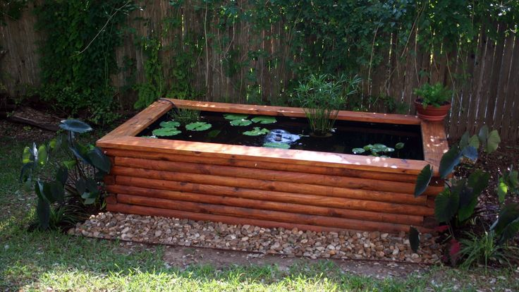 The 25 best above ground pond ideas on pinterest for Homemade pond liner