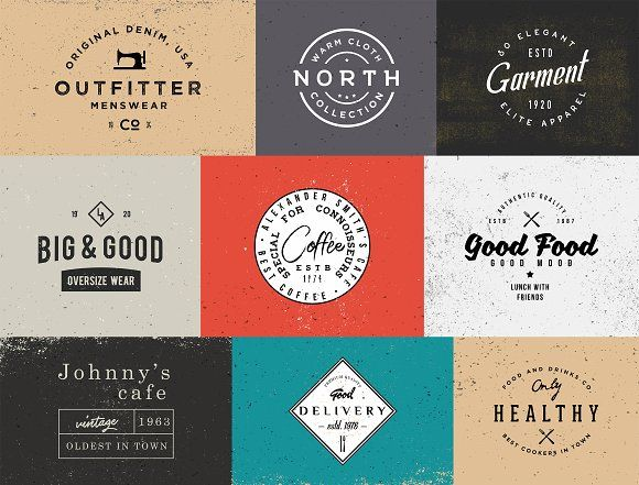 20 RETRO Badges Templates by Roman Paslavskiy on @creativemarket