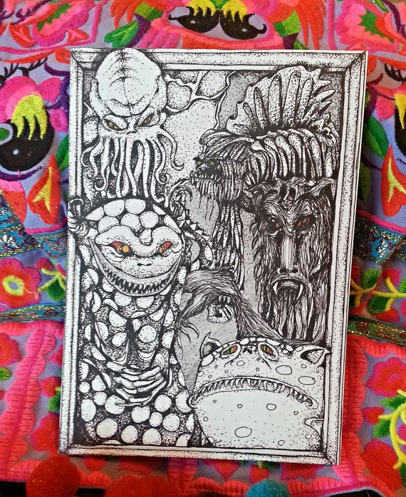 Postcard Illustration by MonstersAndBooks on Etsy