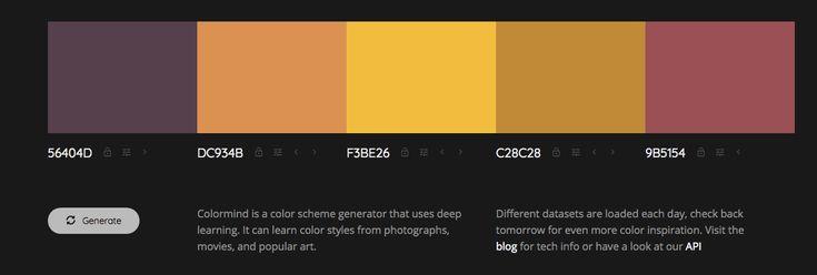 Colormind color palette generator.