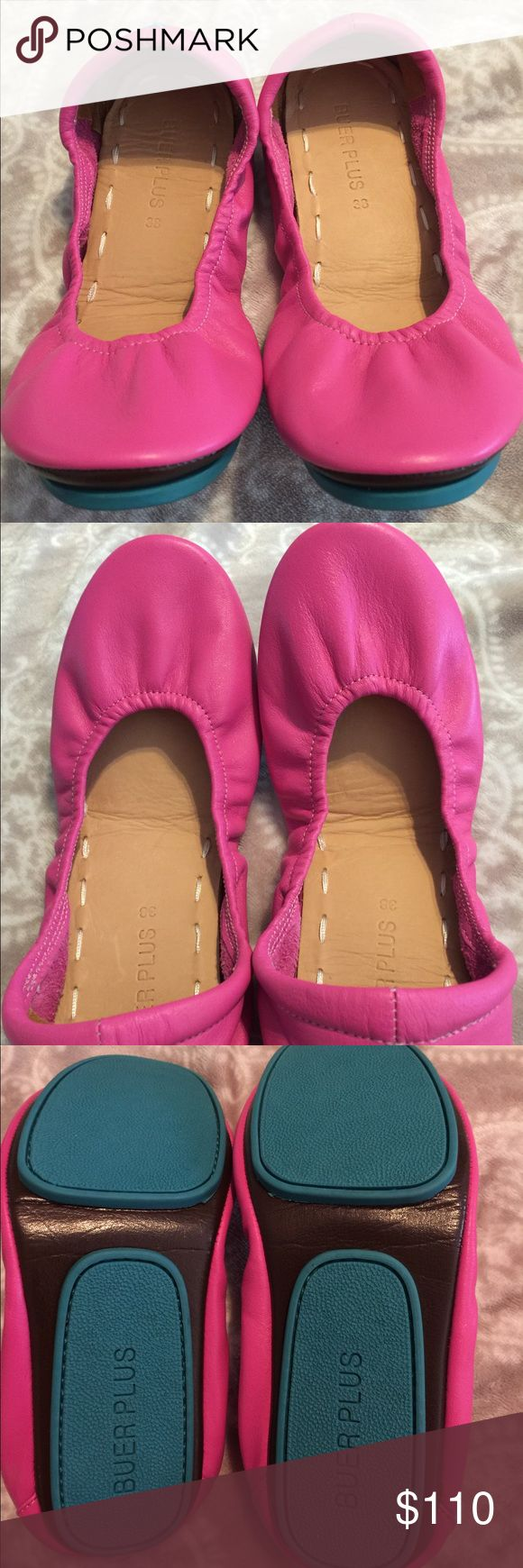 Buer Plus Pink Ballet Flats 38/7- NOT Tieks New Tieks Shoes Flats & Loafers