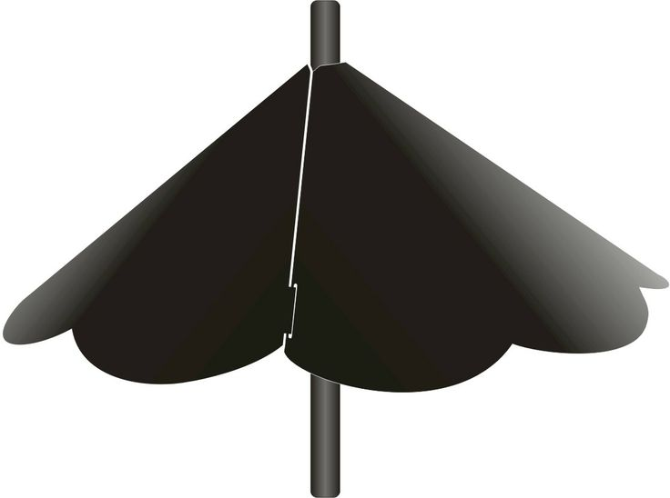 "SB8SE Break apart squirrel baffle Scalloped Wrap around Cone Baffle Scalloped for poles 1/2"" to 1"" diameter. Black in colour. Baffle is 18-1/2"" diameter."
